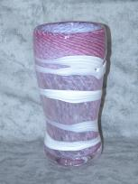 amethyst, white and rose vase 1