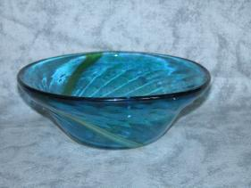 blue-green swirl bowl