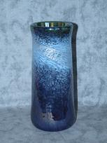 blue-lace silvery wide vase