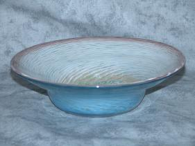 blue and white swirl bowl