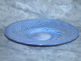 blue and white swirl plate