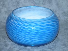 small blue netting bowl