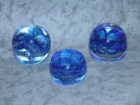 blue rosette paperweights