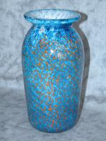 blue speckled vase