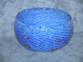 blue, white and murrini bowl