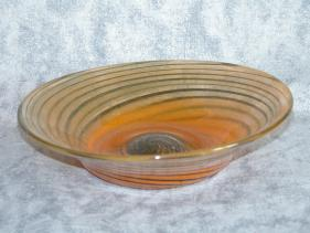 orange swirl bowl