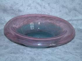 rose mix with turquoise shallow bowl