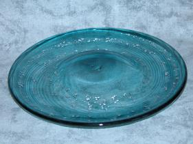 Sea-green and Silver 'Reverse' Plate