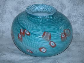 Small Aqua Murrini Vase