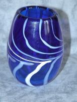 small cobalt blue vase