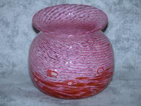 Small Rose and Salmon Murrini Vase