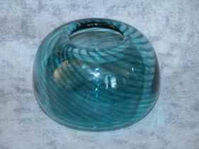 small sea-green swirl bowl