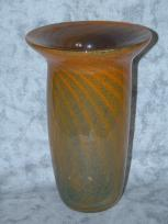smokey orange swirl vase